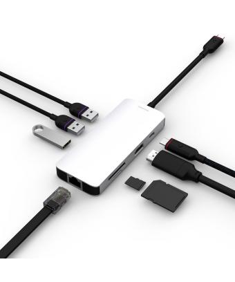 Hub Unisynk USB-C 8 en 1 - adaptateur multiport