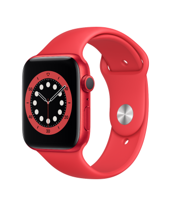 Apple Watch Serie 6 GPS 40mm PRODUCT RED Aluminium avec Sport Band - side view
