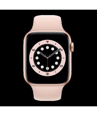 Apple Watch Series 6 GPS 44mm Gold Aluminium avec Pink Sand Sport Band