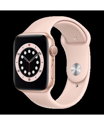 Apple Watch Serie 6 GPS 40mm Gold Aluminium avec Sport Band - side view
