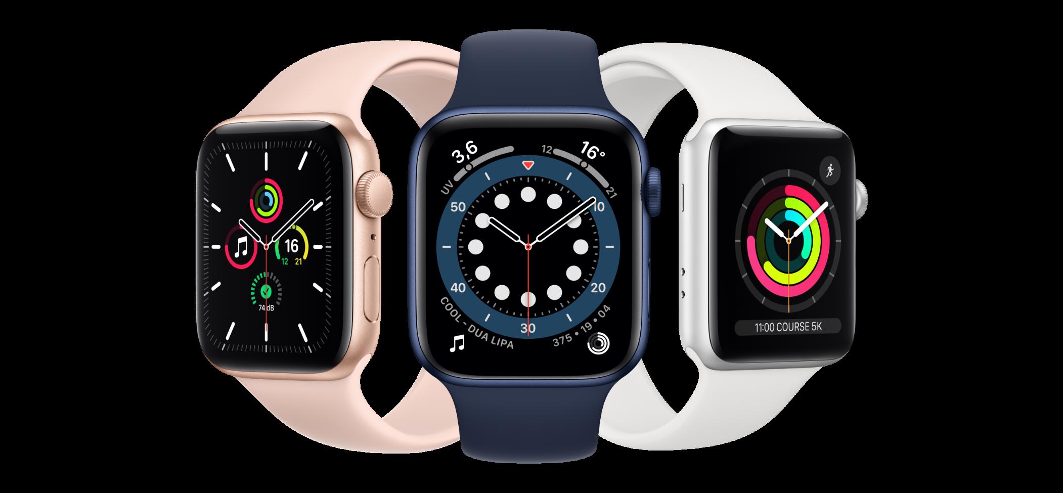 Apple Watch Serie 6 - Gold Blue et White